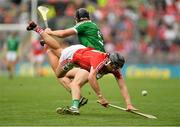 29 July 2018; Darragh Fitzgibbon of Cork in action against Diarmaid Byrnes of Limerick during the GAA Hurling All-Ireland Senior Championship semi-final match between Cork and Limerick at Croke Park in Dublin. Photo by Piaras Ó Mídheach/Sportsfile