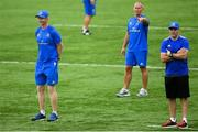 2 August 2018; Felipe Contepomi spoke exclusively to Leinster Rugby TV this week for the first time since returning to the province to take up the role of backs coach. The former Argentina international, who played 116 times for Leinster Rugby from 2003-2009, has joined up with the coaching team and squad ahead of August's Bank of Ireland Pre-season Friendlies away to Montauban (10th August) and at home to Newcastle Falcons at Energia Park (17th August, KO 7pm, tickets on sale now from leinsterrugby.ie). Pictured is Leinster head coach Leo Cullen, left, senior coach Stuart Lancaster, centre, and backs coach Felipe Contepomi during squad training at Energia Park in Donnybrook, Dublin. Photo by Ramsey Cardy/Sportsfile