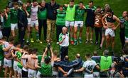 29 July 2018; Limerick manager John Kiely speaks to his players after the GAA Hurling All-Ireland Senior Championship semi-final match between Cork and Limerick at Croke Park in Dublin. Photo by Brendan Moran/Sportsfile