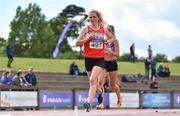 28 July 2018; Mary Mulhare of Portlaoise A.C., Co. Laois, competing in the Senior Women 5000m, event during the Irish Life Health National Senior T&F Championships Day 1 at Morton Stadium in Santry, Dublin. Photo by Sam Barnes/Sportsfile