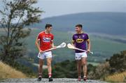 1 August 2018; Mark Coleman of Cork, Conor Firman of Wexford, Fintan Burke of Galway and Mark Kehoe of Tipperary today attended the Bord Gáis Energy GAA Hurling U-21 All-Ireland Semi-Finals preview, held at Carrickgollogan, Co. Dublin, ahead of the penultimate round of this year's Championship. Munster winners Cork play Wexford in Nowlan Park on Saturday, 4 August while Leinster champions Galway meet Tipperary at the Gaelic Grounds, Limerick on Wednesday, 8 August. Pictured are Mark Coleman of Cork, left, and Conor Firman of Wexford. Photo by Brendan Moran/Sportsfile