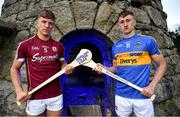 1 August 2018; Mark Coleman of Cork, Conor Firman of Wexford, Fintan Burke of Galway and Mark Kehoe of Tipperary today attended the Bord Gáis Energy GAA Hurling U-21 All-Ireland Semi-Finals preview, held at Carrickgollogan, Co. Dublin, ahead of the penultimate round of this year's Championship. Munster winners Cork play Wexford in Nowlan Park on Saturday, 4 August while Leinster champions Galway meet Tipperary at the Gaelic Grounds, Limerick on Wednesday, 8 August. Pictured are Fintan Burke of Galway, left, and Mark Kehoe of Tipperary. Photo by Brendan Moran/Sportsfile