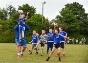 1 August 2018; Leinster player Tadhg Furlong with participants during the Bank of Ireland Leinster Rugby Summer Camp at Gorey RFC in Wexford. Photo by Eóin Noonan/Sportsfile