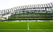 1 August 2018; A general view of the Aviva Stadium ahead of the International Champions Cup match between Arsenal and Chelsea at the Aviva Stadium in Dublin. Photo by Ramsey Cardy/Sportsfile