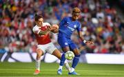 1 August 2018; Callum Hudson-Odoi of Chelsea  in action against Héctor Bellerín of Arsenal  during the International Champions Cup 2018 match between Arsenal and Chelsea at the Aviva Stadium in Dublin. Photo by Sam Barnes/Sportsfile