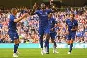 1 August 2018; Antonio Rüdiger of Chelsea celebrates after scoring his side's first goal of the game during the International Champions Cup match between Arsenal and Chelsea at the Aviva Stadium in Dublin. Photo by Ramsey Cardy/Sportsfile