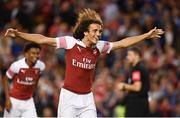 1 August 2018; Arsenal players including Mattéo Guendouzi, centre, celebrate after winning the International Champions Cup match between Arsenal and Chelsea at the Aviva Stadium in Dublin. Photo by Sam Barnes/Sportsfile