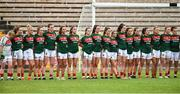 14 July 2018; The Mayo squad before the TG4 All-Ireland Ladies Football Senior Championship Group 4 Round 1 match between Cavan and Mayo at St Tiernach's Park, in Clones, Monaghan. Photo by Oliver McVeigh/Sportsfile