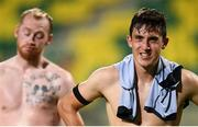 2 August 2018; Jamie McGrath, right, and Chris Shields of Dundalk following the UEFA Europa League Second Qualifying Round 2nd Leg match between AEK Larnaca and Dundalk at the AEK Arena in Larnaca, Cyprus. Photo by Stephen McCarthy/Sportsfile