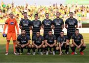 2 August 2018; The Dundalk team, back row, from left, Gary Rogers, Daniel Cleary, Jamie McGrath, Sean Hoare, Chris Shields and Brian Gartland, with, front row, Patrick Hoban, Michael Duffy, Dean Jarvis, Dylan Connolly and Robbie Benson during the UEFA Europa League Second Qualifying Round 2nd Leg match between AEK Larnaca and Dundalk at the AEK Arena in Larnaca, Cyprus. Photo by Stephen McCarthy/Sportsfile