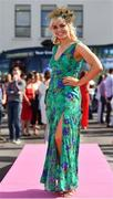 3 August 2018; Former Cork Camogie captain Anna Geary prior to racing at the Galway Races Summer Festival 2018 in Ballybrit, Galway. Photo by Seb Daly/Sportsfile