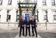 3 August 2018; Liverpool legends Ian Rush, Robbie Fowler and Jason McAteer visit Lord Mayor Nial Ring at Dublin's Mansion House to promote the Liverpool v Napoli game in Aviva Stadium on Saturday, August 4. Pictured from left is, Jason McAteer, Robbie Fowler and Ian Rush at the Liverpool Ambassadors visit to Dublin Lord Mayor at the Mansion House in Dublin. Photo by Eóin Noonan/Sportsfile