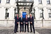 3 August 2018; Liverpool legends Ian Rush, Robbie Fowler and Jason McAteer visit Lord Mayor Nial Ring at Dublin's Mansion House to promote the Liverpool v Napoli game in Aviva Stadium on Saturday, August 4. Pictured from left is, Jason McAteer, FAI president Tony Fitzgerald, Robbie Fowler and Ian Rush at the Liverpool Ambassadors visit to Dublin Lord Mayor at the Mansion House in Dublin. Photo by Eóin Noonan/Sportsfile