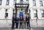 3 August 2018; Liverpool legends Ian Rush, Robbie Fowler and Jason McAteer visit Lord Mayor Nial Ring at Dublin's Mansion House to promote the Liverpool v Napoli game in Aviva Stadium on Saturday, August 4. Pictured from left is, Jason McAteer, FAI president Tony Fitzgerald, Robbie Fowler, Dublin Lord Mayor Nial Ring and Ian Rush at the Liverpool Ambassadors visit to Dublin Lord Mayor at the Mansion House in Dublin. Photo by Eóin Noonan/Sportsfile