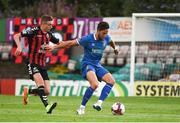 3 August 2018; Billy Dennehy of Limerick in action against Daniel Kelly of Bohemians during the SSE Airtricity League Premier Division match between Bohemians and Limerick at Dalymount Park in Dublin. Photo by Piaras Ó Mídheach/Sportsfile