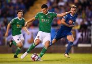 3 August 2018; Graham Cummins of Cork City in action against Dessie Hutchinson of Waterford during the SSE Airtricity League Premier Division match between Waterford and Cork City at the RSC in Waterford. Photo by Stephen McCarthy/Sportsfile
