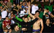 3 August 2018; Cork City supporters celebrate following the SSE Airtricity League Premier Division match between Waterford and Cork City at the RSC in Waterford. Photo by Stephen McCarthy/Sportsfile