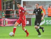 3 August 2018; Adam Evans of Shelbourne in action against Shane O'Connor of Cobh Ramblers during the SSE Airtricity League First Division match between Shelbourne and Cobh Ramblers at Tolka Park in Dublin. Photo by Eoin Smith/Sportsfile