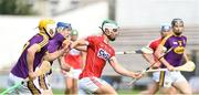 4 August 2018; Shane Kingston of Cork in action against Shane Reck and Ian Carthy of Wexford during the Bord Gáis Energy GAA Hurling All-Ireland U21 Championship Semi-Final match between Cork and Wexford at Nowlan Park in Kilkenny. Photo by Matt Browne/Sportsfile