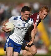 4 August 2018; Conor McManus of Monaghan in action against Declan Kyne of Galway during the GAA Football All-Ireland Senior Championship Quarter-Final Group 1 Phase 3 match between Galway and Monaghan at Pearse Stadium in Galway. Photo by Diarmuid Greene/Sportsfile