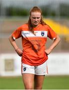 4 August 2018; Blaithin Mackin of Armagh dejected following the TG4 All-Ireland Ladies Football Senior Championship quarter-final match between Armagh and Donegal at Healy Park in Omagh, Tyrone. Photo by Oliver McVeigh/Sportsfile