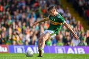 4 August 2018; David Clifford of Kerry scores his side's first goal from a penalty during the GAA Football All-Ireland Senior Championship Quarter-Final Group 1 Phase 3 match between Kerry and Kildare at Fitzgerald Stadium in Killarney, Kerry. Photo by Brendan Moran/Sportsfile