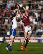 4 August 2018; Thomas Flynn of Galway in action against Darren Hughes of Monaghan during the GAA Football All-Ireland Senior Championship Quarter-Final Group 1 Phase 3 match between Galway and Monaghan at Pearse Stadium in Galway. Photo by Diarmuid Greene/Sportsfile