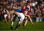 4 August 2018; Conor McManus of Monaghan and Eoghan Kerin of Galway clash off the ball during the GAA Football All-Ireland Senior Championship Quarter-Final Group 1 Phase 3 match between Galway and Monaghan at Pearse Stadium in Galway. Photo by Diarmuid Greene/Sportsfile