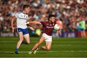 4 August 2018; Damien Comer of Galway in action against Niall Kearns of Monaghan during the GAA Football All-Ireland Senior Championship Quarter-Final Group 1 Phase 3 match between Galway and Monaghan at Pearse Stadium in Galway. Photo by Diarmuid Greene/Sportsfile