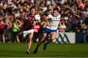 4 August 2018; Eoghan Kerin of Galway in action against Niall Kearns of Monaghan during the GAA Football All-Ireland Senior Championship Quarter-Final Group 1 Phase 3 match between Galway and Monaghan at Pearse Stadium in Galway. Photo by Diarmuid Greene/Sportsfile