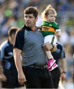 4 August 2018; Kerry manager Eamonn Fitzmaurice with his daughter Faye after the GAA Football All-Ireland Senior Championship Quarter-Final Group 1 Phase 3 match between Kerry and Kildare at Fitzgerald Stadium in Killarney, Kerry. Photo by Brendan Moran/Sportsfile
