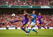 4 August 2018; Trent Alexander-Arnold of Liverpool in action against Mario Rui of Napoli during the Pre Season Friendly match between Liverpool and Napoli at the Aviva Stadium in Dublin. Photo by Stephen McCarthy/Sportsfile