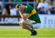 4 August 2018; A dejected Peter Crowley of Kerry after the GAA Football All-Ireland Senior Championship Quarter-Final Group 1 Phase 3 match between Kerry and Kildare at Fitzgerald Stadium in Killarney, Kerry. Photo by Brendan Moran/Sportsfile