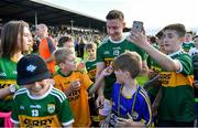 4 August 2018; James O'Donoghue of Kerry with fans after the GAA Football All-Ireland Senior Championship Quarter-Final Group 1 Phase 3 match between Kerry and Kildare at Fitzgerald Stadium in Killarney, Kerry. Photo by Brendan Moran/Sportsfile