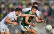 4 August 2018; James O'Donoghue of Kerry in action against James Murray of Kildare during the GAA Football All-Ireland Senior Championship Quarter-Final Group 1 Phase 3 match between Kerry and Kildare at Fitzgerald Stadium in Killarney, Kerry. Photo by Brendan Moran/Sportsfile