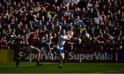4 August 2018; Ryan McAnespie of Monaghan in action against Sean Kelly of Galway during the GAA Football All-Ireland Senior Championship Quarter-Final Group 1 Phase 3 match between Galway and Monaghan at Pearse Stadium in Galway. Photo by Diarmuid Greene/Sportsfile