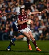 4 August 2018; Eamonn Brannigan of Galway in action against Niall Kearns of Monaghan during the GAA Football All-Ireland Senior Championship Quarter-Final Group 1 Phase 3 match between Galway and Monaghan at Pearse Stadium in Galway. Photo by Diarmuid Greene/Sportsfile