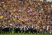 5 August 2018; Clare supporters before the GAA Hurling All-Ireland Senior Championship semi-final replay match between Galway and Clare at Semple Stadium in Thurles, Co Tipperary. Photo by Ray McManus/Sportsfile