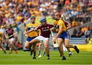 5 August 2018; Johnny Coen of Galway in action against Peter Duggan of Clare during the GAA Hurling All-Ireland Senior Championship semi-final replay match between Galway and Clare at Semple Stadium in Thurles, Co Tipperary. Photo by Ray McManus/Sportsfile