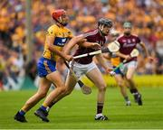 5 August 2018; Joseph Cooney of Galway in action against Peter Duggan of Clare during the GAA Hurling All-Ireland Senior Championship semi-final replay match between Galway and Clare at Semple Stadium in Thurles, Co Tipperary. Photo by Ray McManus/Sportsfile