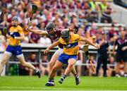 5 August 2018; David Reidy of Clare in action against Aidan Harte of Galway during the GAA Hurling All-Ireland Senior Championship semi-final replay match between Galway and Clare at Semple Stadium in Thurles, Co Tipperary. Photo by Brendan Moran/Sportsfile