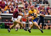 5 August 2018; John Conlon of Clare in action against Daithí Burke of Galway during the GAA Hurling All-Ireland Senior Championship semi-final replay match between Galway and Clare at Semple Stadium in Thurles, Co Tipperary. Photo by Brendan Moran/Sportsfile