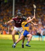 5 August 2018; David Reidy of Clare in action against Aidan Harte of Galway during the GAA Hurling All-Ireland Senior Championship semi-final replay match between Galway and Clare at Semple Stadium in Thurles, Co Tipperary. Photo by Ray McManus/Sportsfile