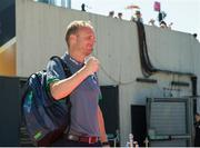 5 August 2018; Head Coach of Ireland Graham Shaw prepares to greet his team as they arrive before the Women's Hockey World Cup Final match between Ireland and Netherlands at the Lee Valley Hockey Centre in QE Olympic Park, London, England. Photo by Craig Mercer/Sportsfile