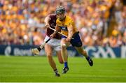 5 August 2018; Tony Kelly of Clare is dispossessed by Aidan Harte of Galway during the GAA Hurling All-Ireland Senior Championship semi-final replay match between Galway and Clare at Semple Stadium in Thurles, Co Tipperary. Photo by Brendan Moran/Sportsfile