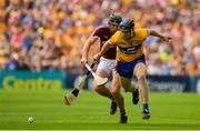 5 August 2018; Tony Kelly of Clare in action against Aidan Harte of Galway during the GAA Hurling All-Ireland Senior Championship semi-final replay match between Galway and Clare at Semple Stadium in Thurles, Co Tipperary. Photo by Brendan Moran/Sportsfile