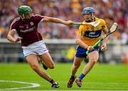 5 August 2018; Pádraic Collins of Clare is tackled by Adrian Tuohy of Galway during the GAA Hurling All-Ireland Senior Championship semi-final replay match between Galway and Clare at Semple Stadium in Thurles, Co Tipperary. Photo by Brendan Moran/Sportsfile