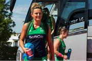 5 August 2018; Nicola Evans of Ireland arrives before the Women's Hockey World Cup Final match between Ireland and Netherlands at the Lee Valley Hockey Centre in QE Olympic Park, London, England. Photo by Craig Mercer/Sportsfile