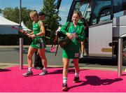 5 August 2018; Nicola Daly of Ireland arrives before the Women's Hockey World Cup Final match between Ireland and Netherlands at the Lee Valley Hockey Centre in QE Olympic Park, London, England. Photo by Craig Mercer/Sportsfile