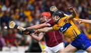 5 August 2018; Conor Whelan of Galway is tackled by Tony Kelly of Clare during the GAA Hurling All-Ireland Senior Championship semi-final replay between Galway and Clare at Semple Stadium in Thurles, Co Tipperary. Photo by Ramsey Cardy/Sportsfile